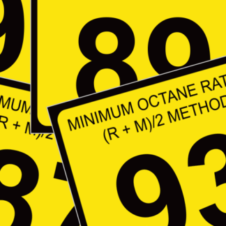 Octane Rating Decals
