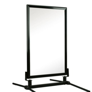 Classic Curb Sidewalk Sign Frame Black