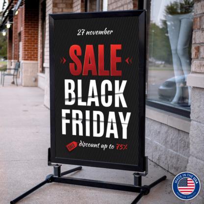 Curb Sidewalk Sign Frame with Black Friday Insert