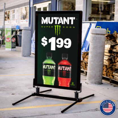 Curb Sidewalk Sign Frame with Monster Mutant Insert