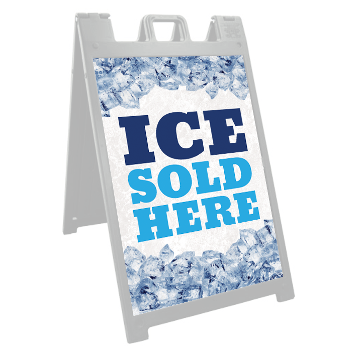 Ice Sold Here Signicade Insert Stock Signs And Frames