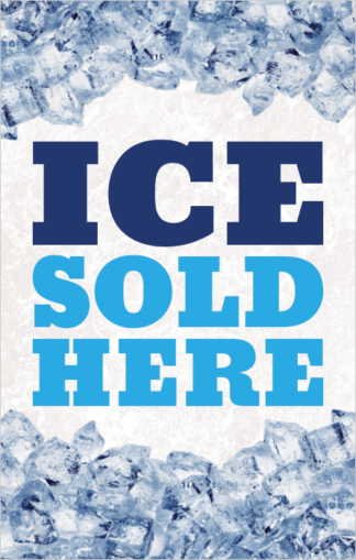 Ice Sold Here Poster Frame Insert