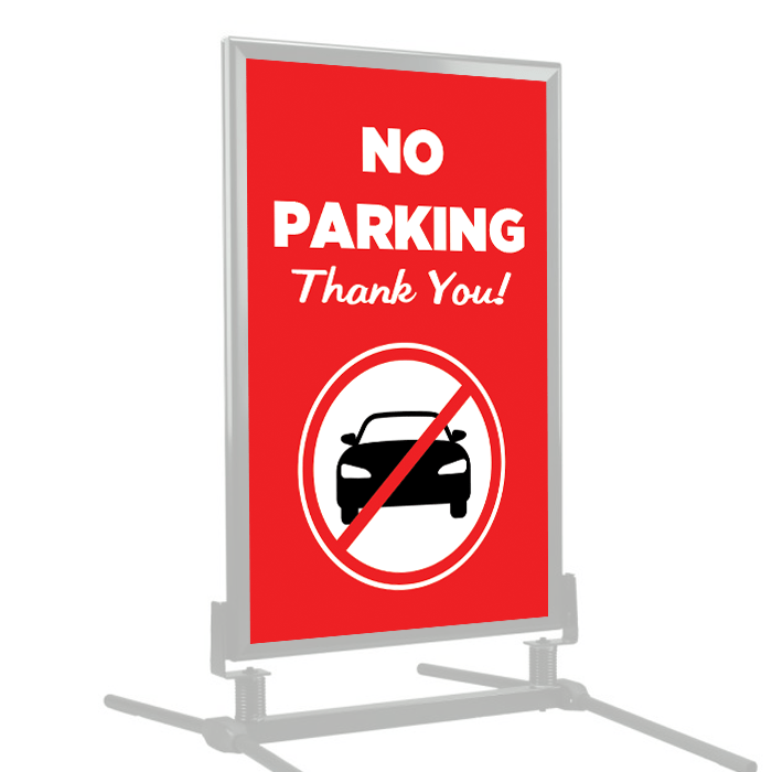 No Parking Thank You Poster Frame Insert Stock Signs And Frames