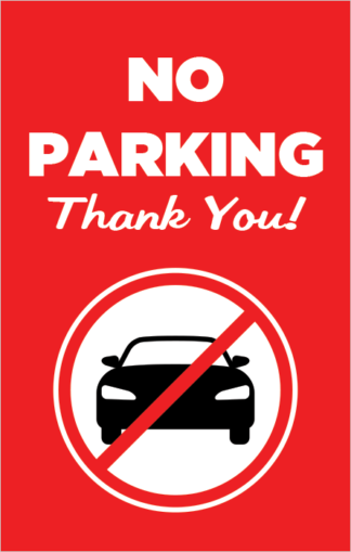 No Parking Thank You Poster Frame Insert