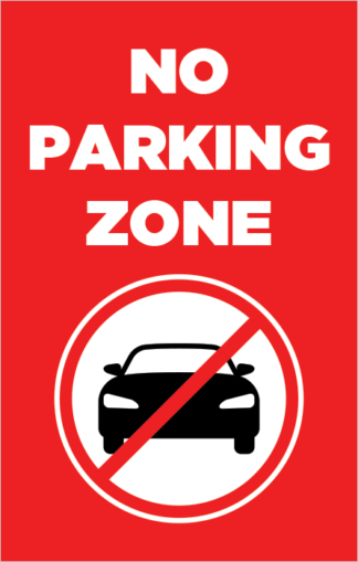 No Parking Zone Poster Frame Insert