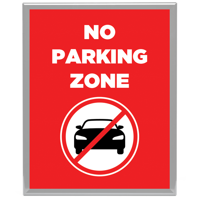 No Parking Zone Poster Frame Insert Stock Signs And Frames
