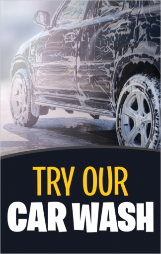 Try Our Car Wash Poster Frame Insert