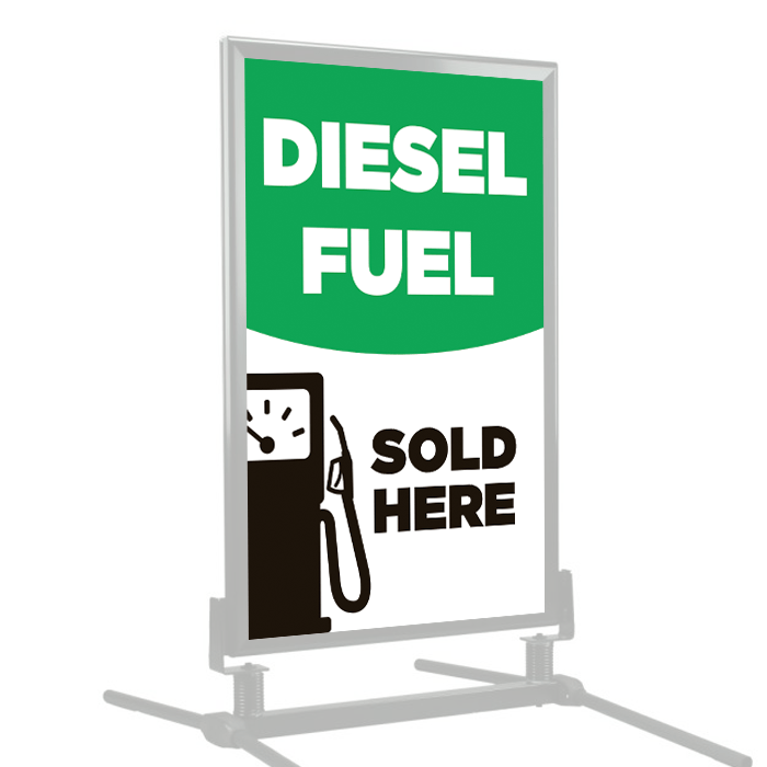 Diesel Fuel Sold Here | Poster Frame Insert | Stock Signs and Frames