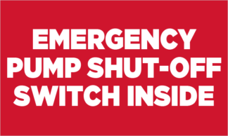 Emergency Pump Shut-off Switch Inside Fuel Pump Decal