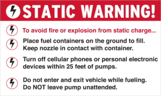 5x3 Pump Decals | Do Not Leave Pump Unattended | Wilde Signs