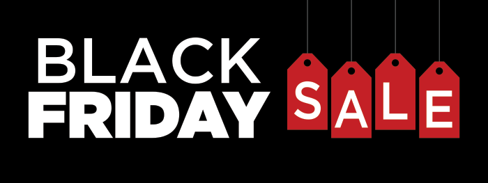 Black Friday Quot Red Tag Quot Banner Wilde Signs