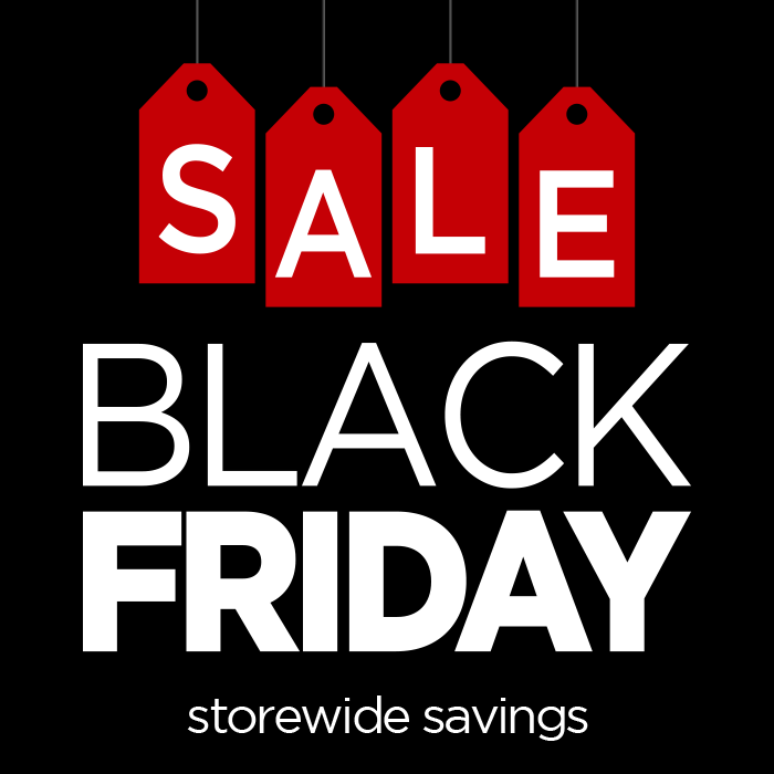 Black Friday Red Tag Window Poster Wilde Signs
