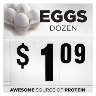 Eggs Dozen Price Flip Sign